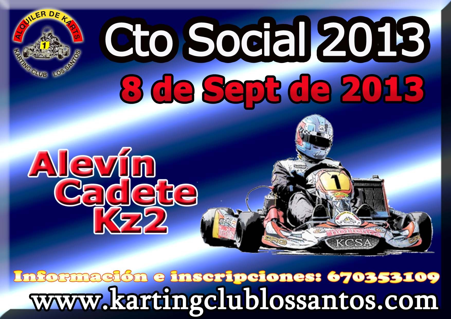 El próximo 8 de Septiembre tendrá lugar la 4º prueba del Campeonato Social del Karting Club Los Santos. ¡¡¡ Os ESPERAMOS!!!