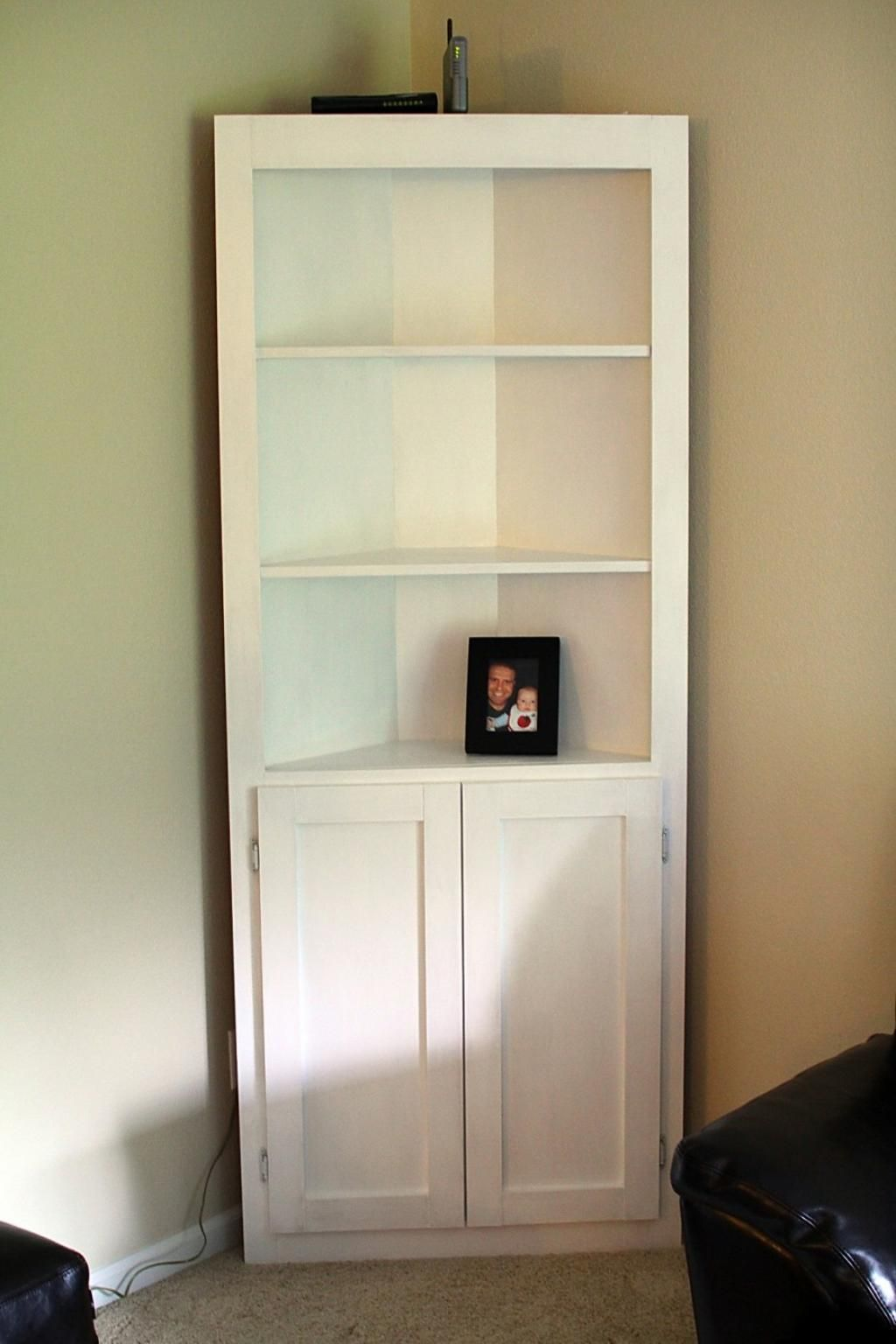 Simple Corner Living Room Shelf Unit 4 Target Shelving With White Painting California Wooden Painting Cabinet An