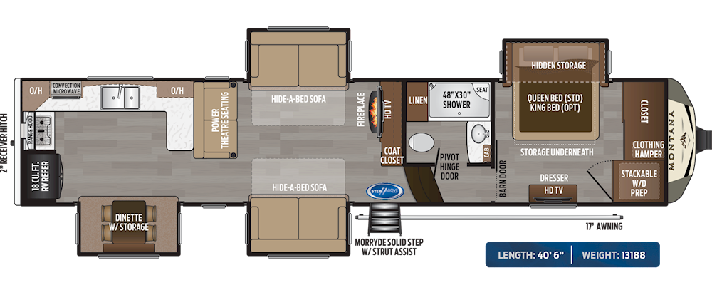 5th Wheel Toy Hauler Camper Floor Plans
