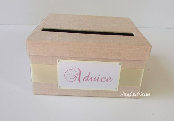 Advice Box Wedding Suggestions Well By Laceyclairedesigns 43 00