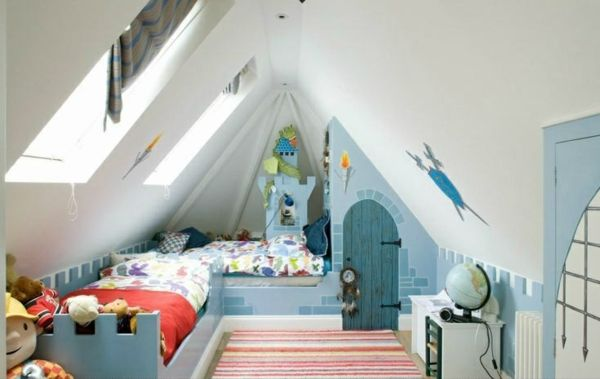 Kinderzimmer Dachschräge einen Privatraum erschaffen