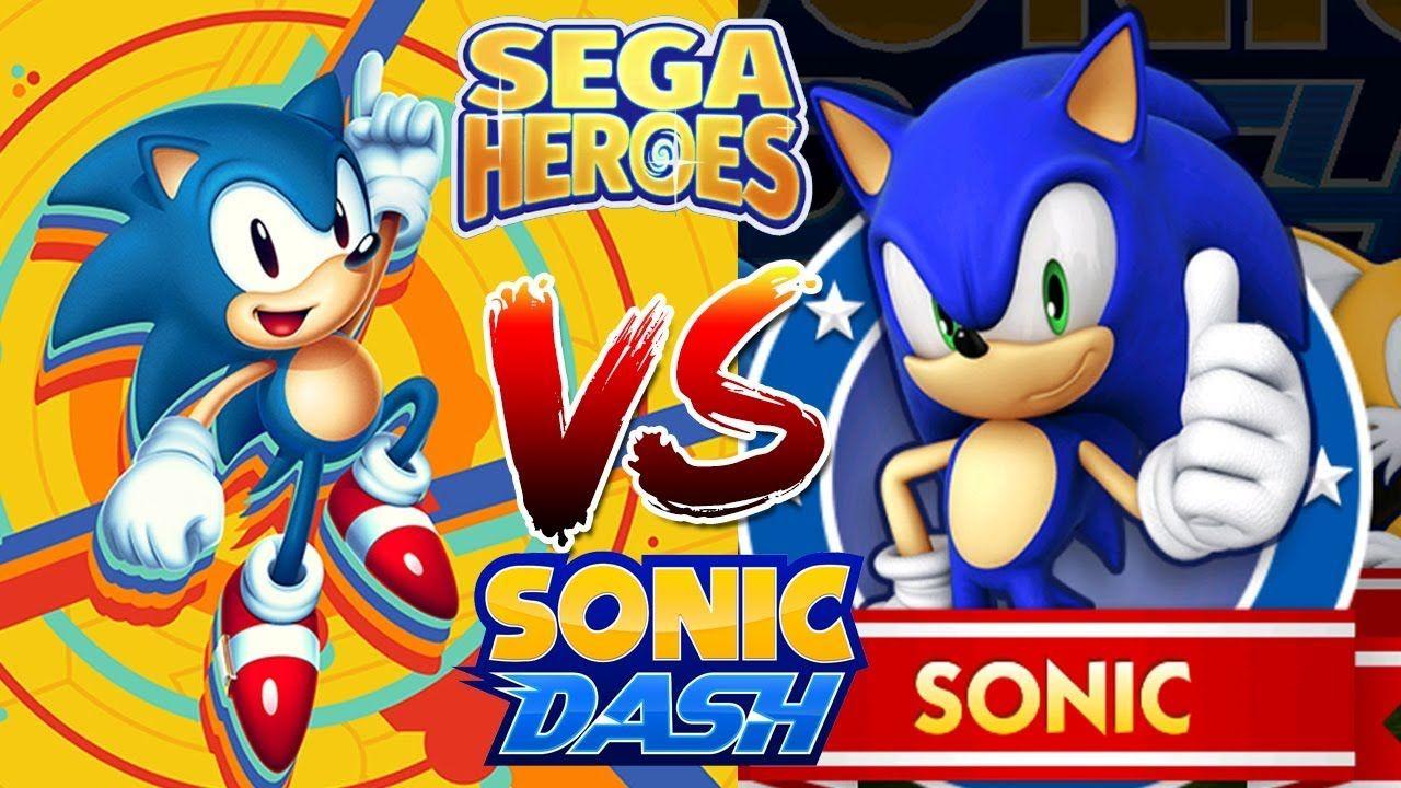 Sonic Dash Vs Sega Heroes Sonic Classic Vs Sonic In