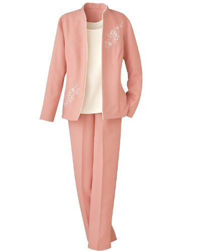 Swann 3-Piece Embroidered Pants Suit, Petite - http://cheune.com/a/34928820421919229