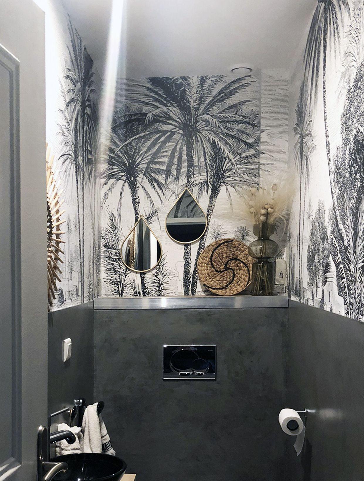 180 idees de papier peint toilettes