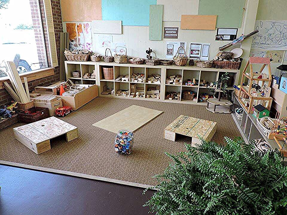 Blocks and loose parts... Not particularly childsafe, but