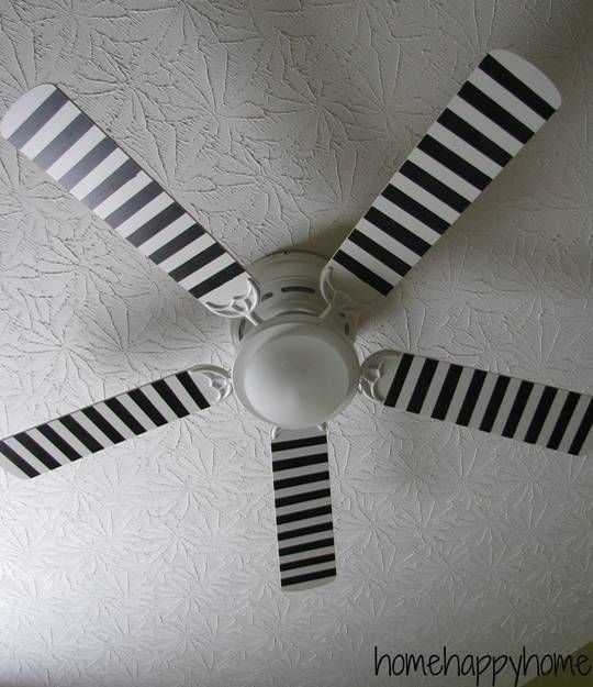 22 Creative Recycling And Interior Decorating Ideas For Ceiling Fans Ceiling Fan Makeover Ceiling Fan Painting Ceiling Fans