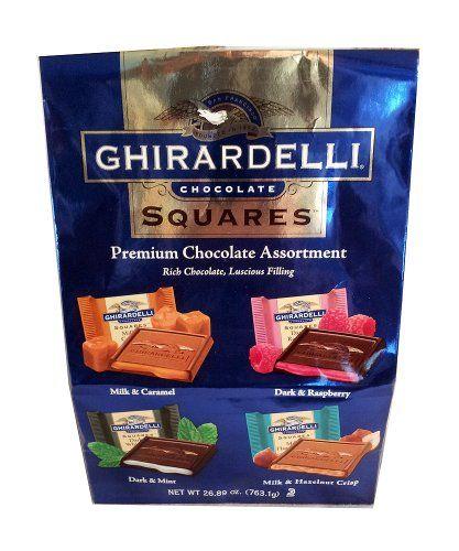 Ghirardelli Chocolate Squares Premium Chocolate Assortment 26.89 oz. - http://bestchocolateshop.com/ghirardelli-chocolate-squares-premium-chocolate-assortment-26-89-oz/