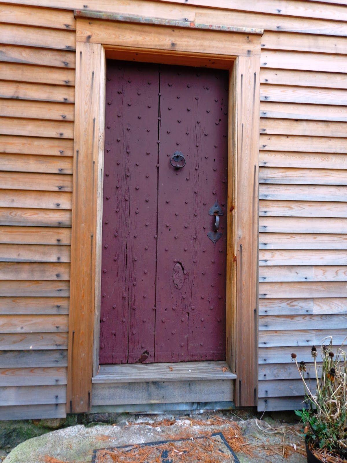 Reproduction Postmedieval English Colonial Vertical Board Batten Door.
