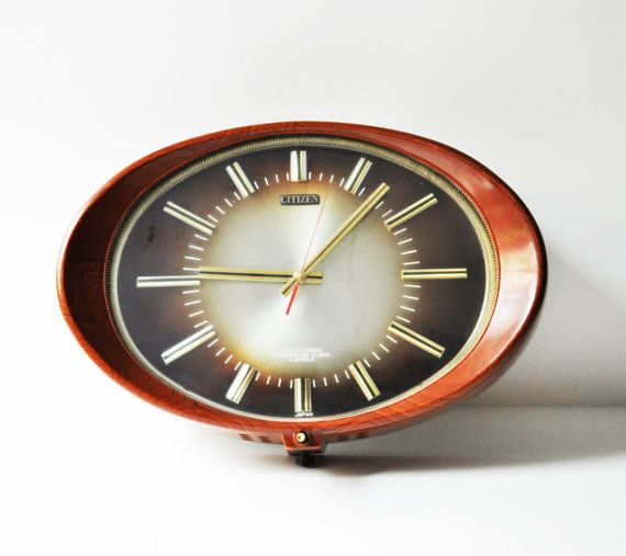 Large Vintage Citizen Wall Clock Made In Japan By