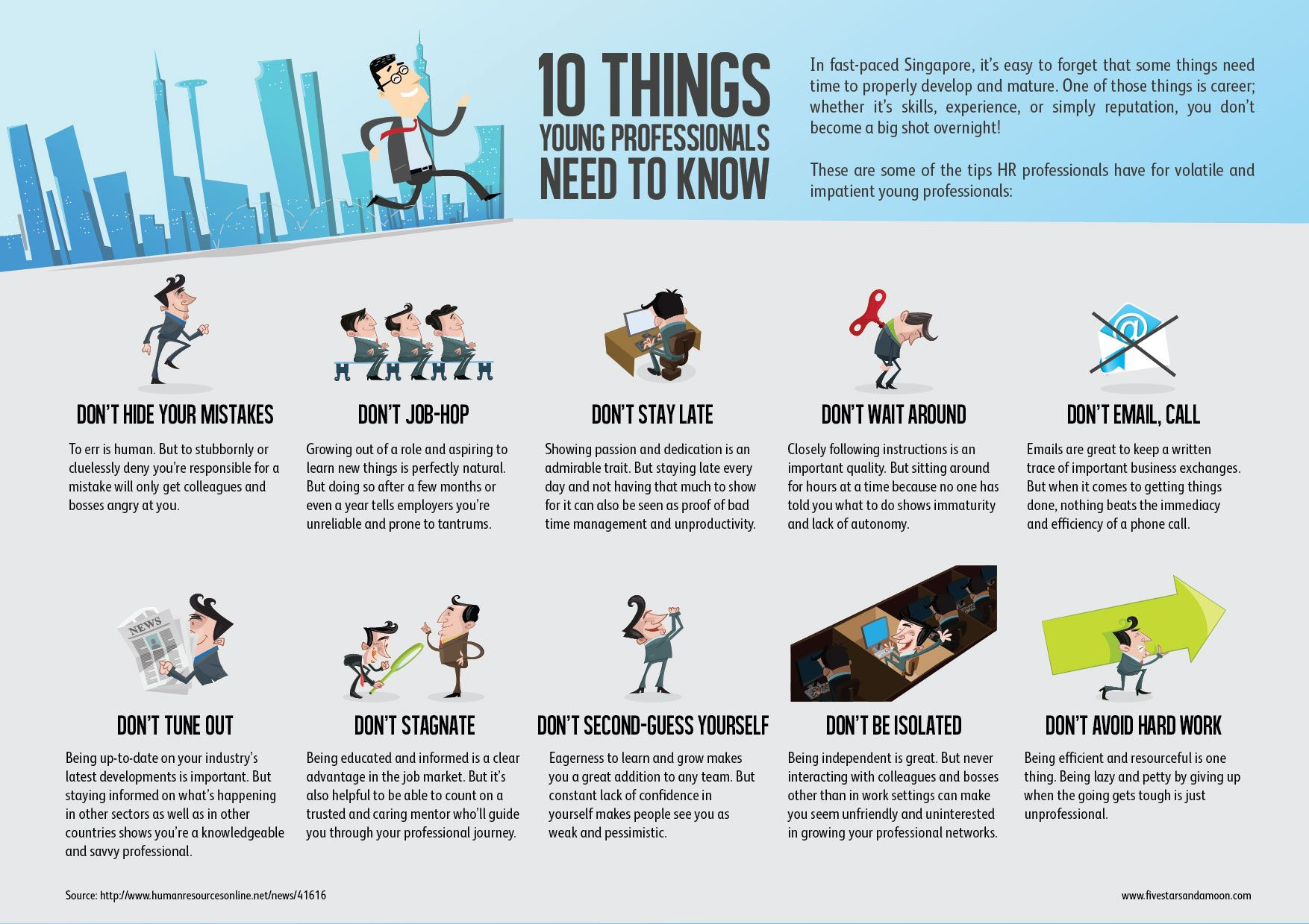 10 Things Young Professionals Should Know [Infographic