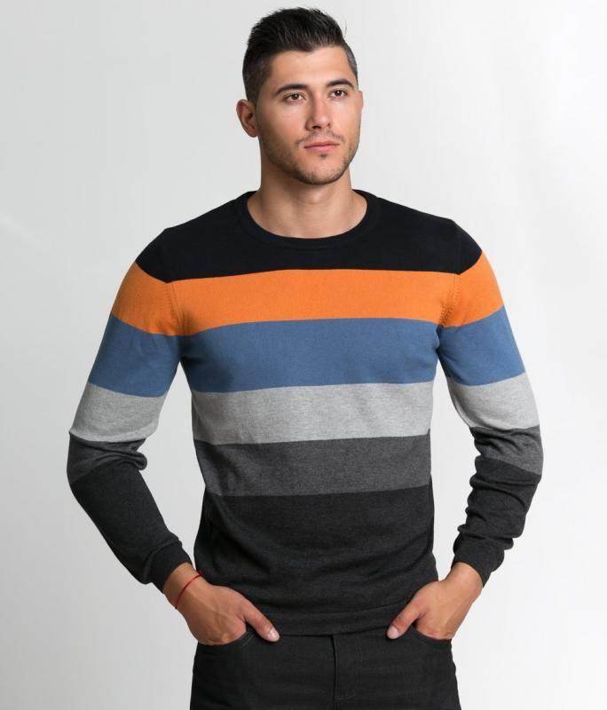 441e2566005 Свеж многоцветен мъжки пуловер Styler   Онлайн маркови дамски дрехи, мъжки  дрехи и дамски обувки. Online магазин за маркови рокли, блузи, ризи.