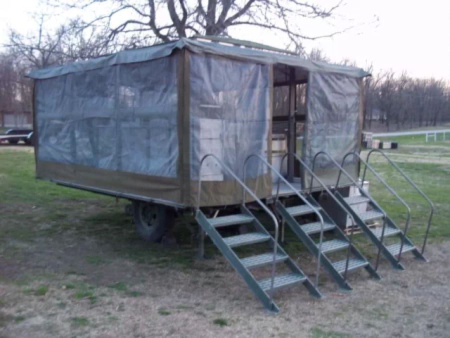 Military surplus moble army field kitchen trailer tent no