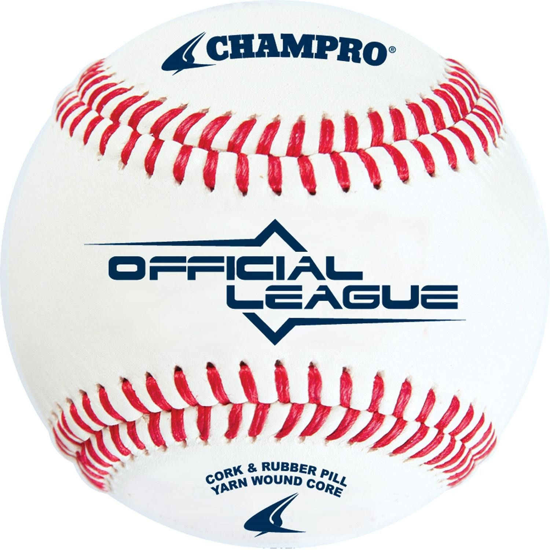 Champro Official League Cushion Cork Core Baseball Dozen