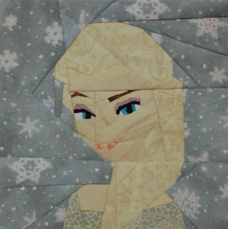 Elsa paper piecing pattern   Quilt blocks kids   Pinterest   Die ...