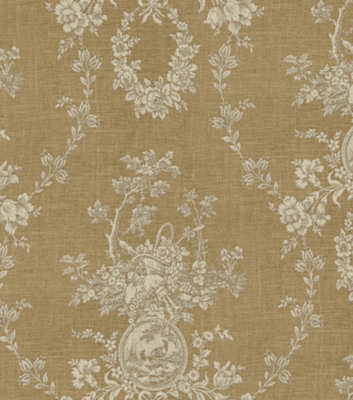 For sofa pillows - Home Decor Print Fabric-Waverly Country House /Linen