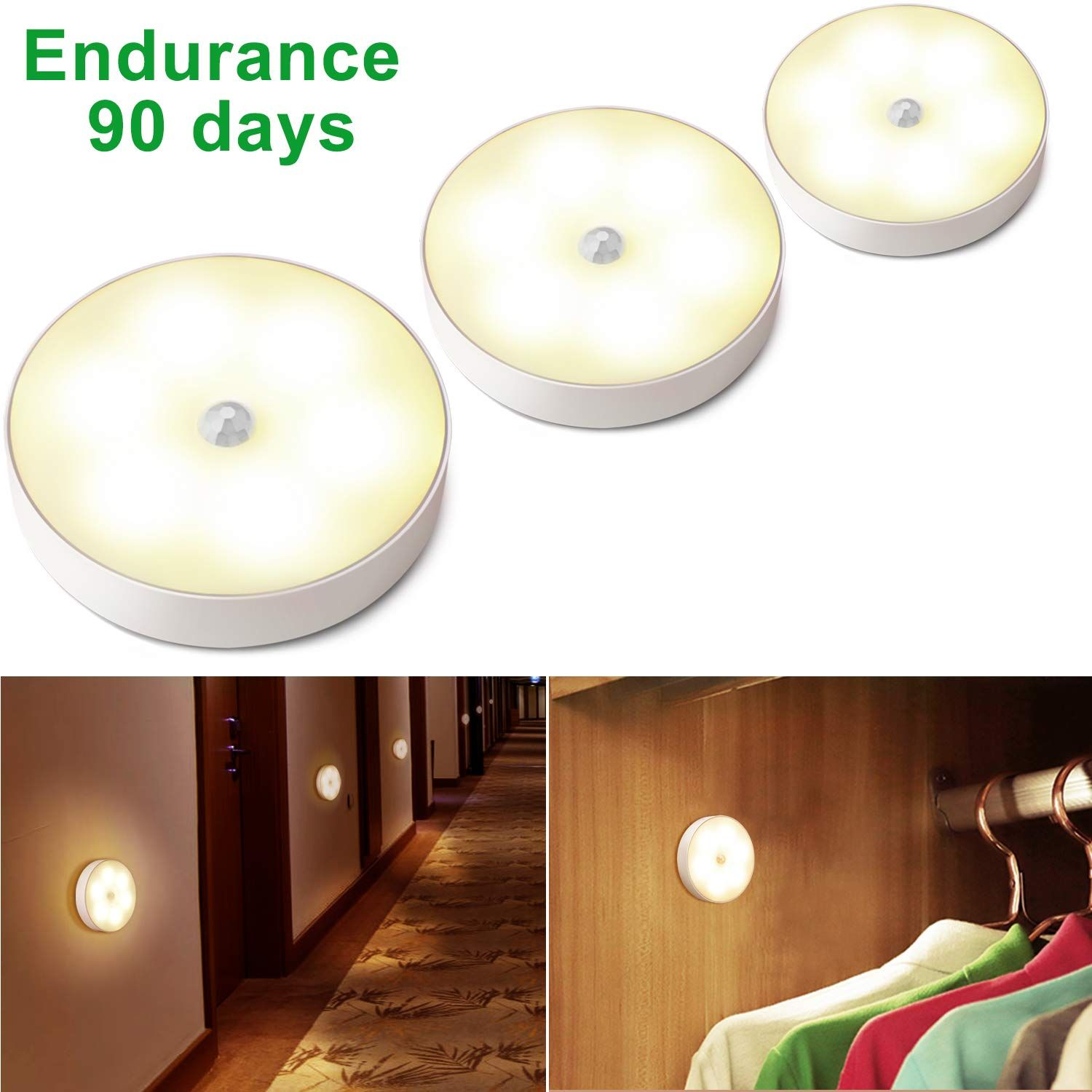 Motion Sensor Light Battery Operated Led Puck Lights Rechargeable Closet Light Cordless Wall Light Under Cabinet Lighting Stairs Lights Hallway Bathroom Kitc Trong 2020