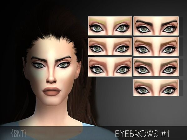 SRT Eyebrow #12 by serenity-cc at TSR via Sims 12 Updates | Sims 12 ...