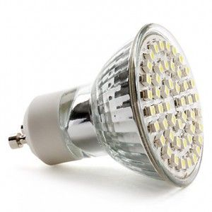 Ampoule LED GU10 à 48 LEDs SMD Blanc Lumière du jour Diffusion 120°