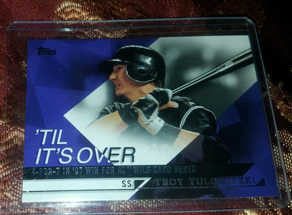 2015 Topps Til Its Over Troy Tulowitzki #TIO-3 Colorado Rockies in Sports Mem, Cards & Fan Shop, Cards, Baseball | eBay