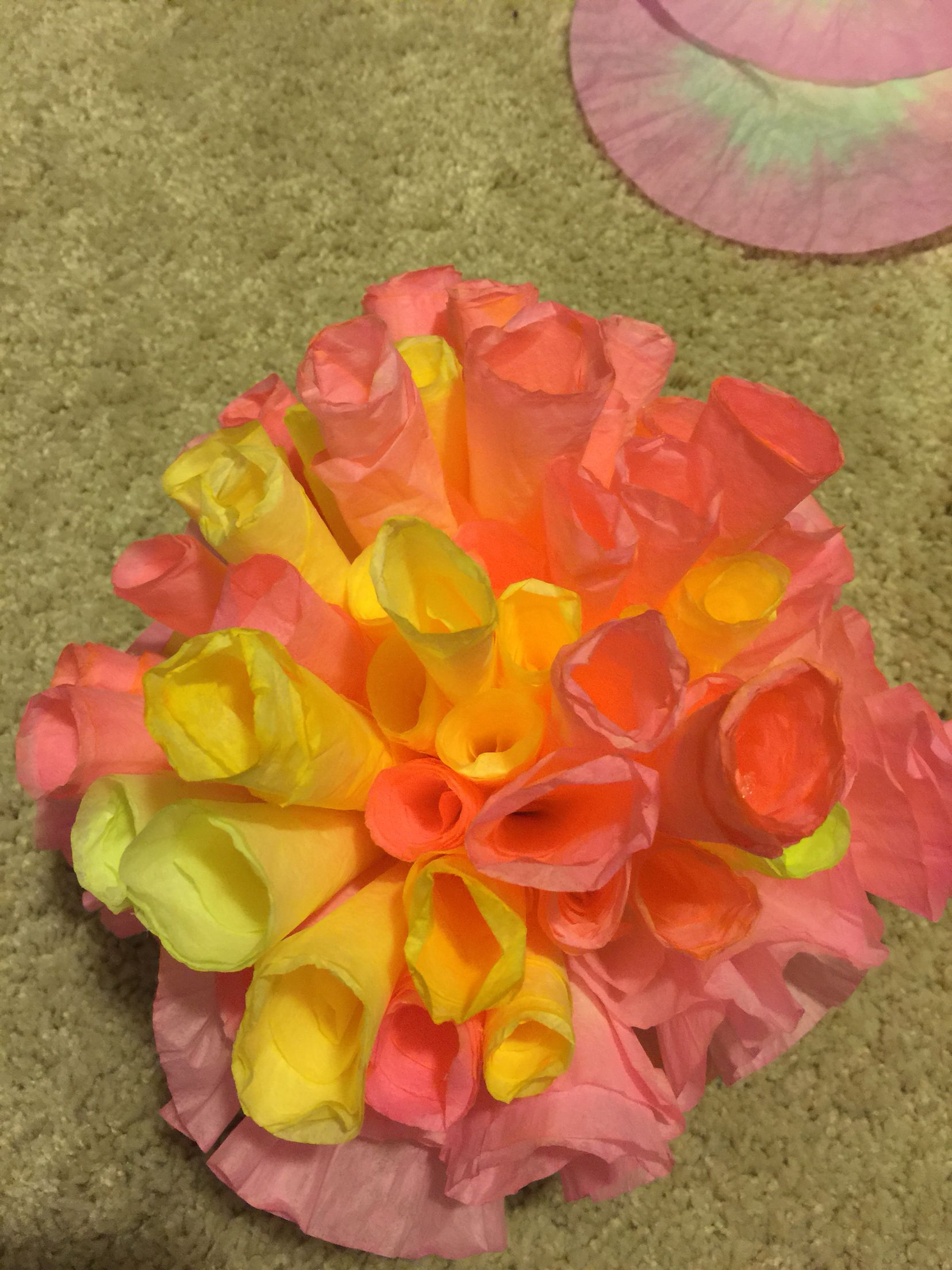 Coral Made Out Of Coffee Filters Under The Sea Book