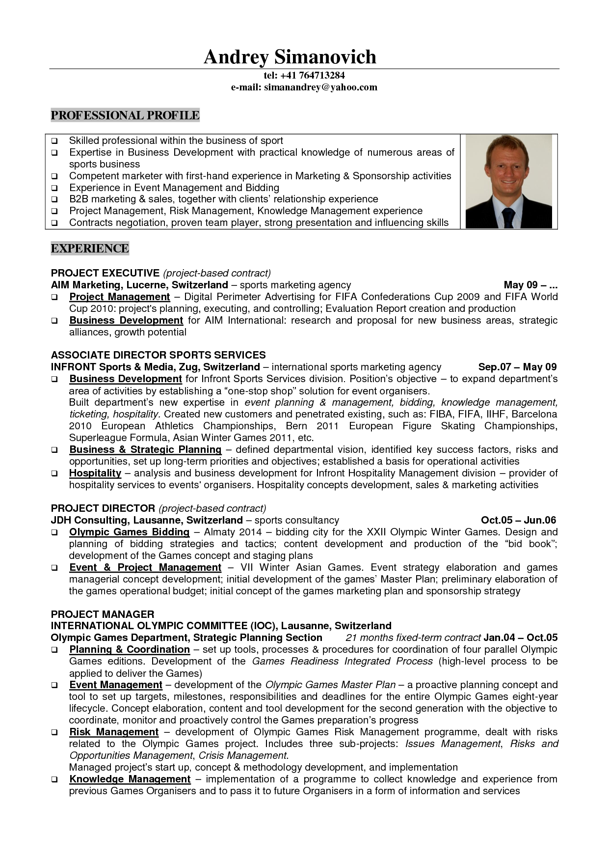 Student Athlete Resume Marketing Resume Template Business Development Samples Event