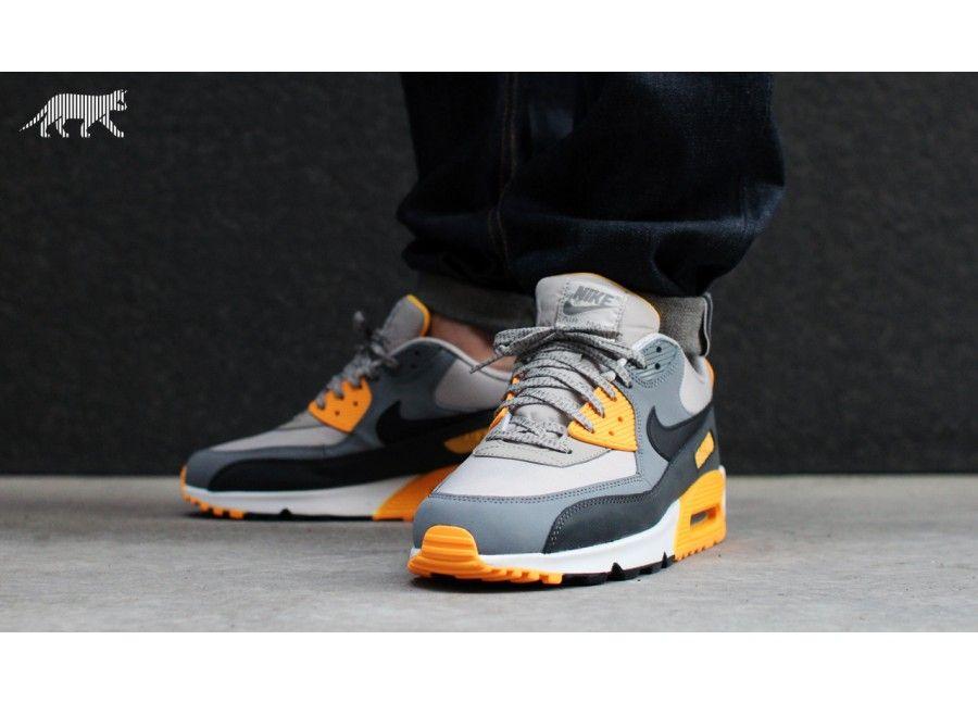 sale retailer f5e24 175b4 Nike Air Max 90 Essential (Pale Grey   Black - Anthracite - Laser Orange)    asphaltgold