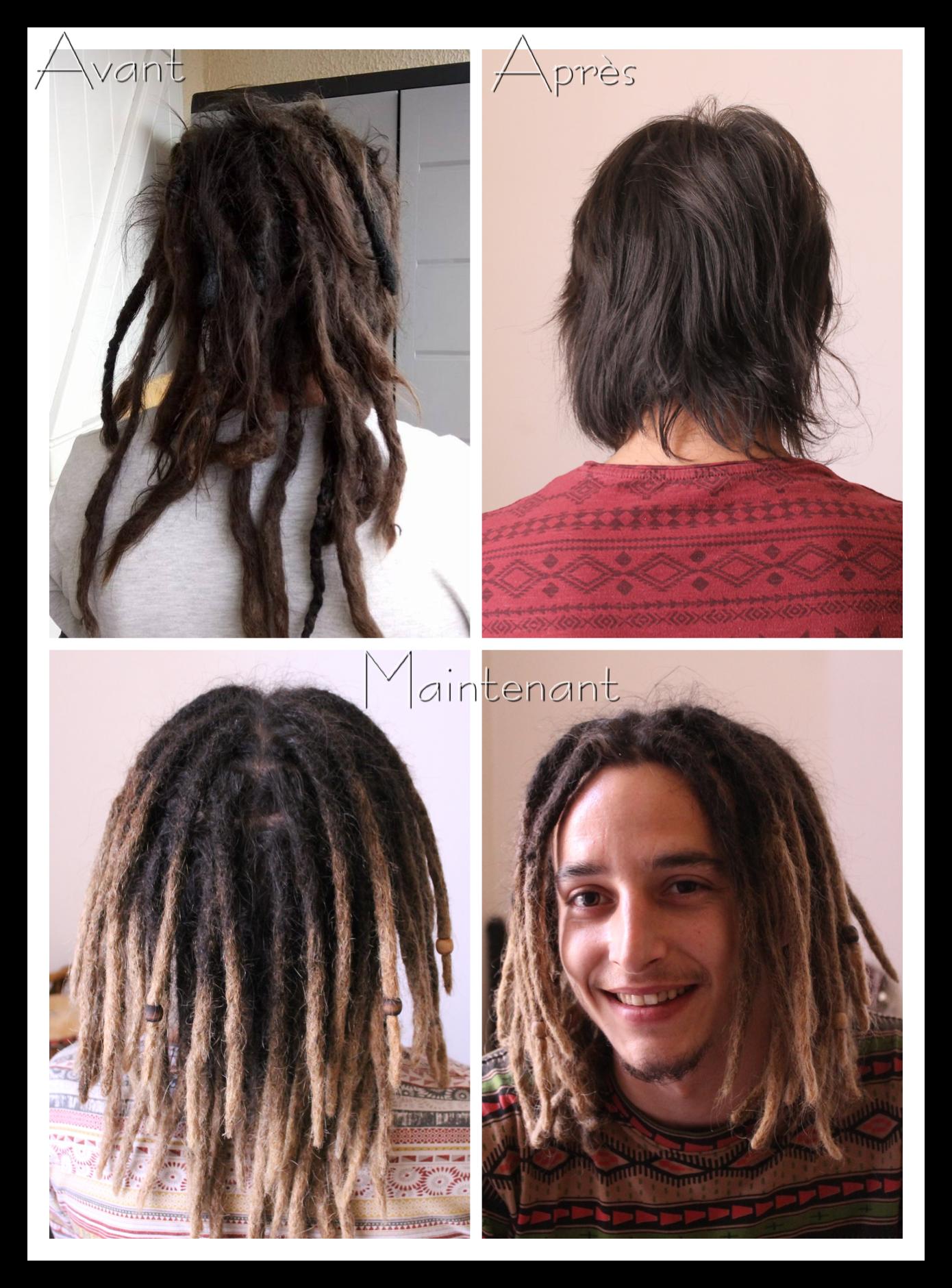 Avant Et Apres Before And After La Pose Des Extensions Des Vrais Cheveux Real Hair Dreadlocks Extensions By Dread Hairstyles Cool Hairstyles Hair Styles