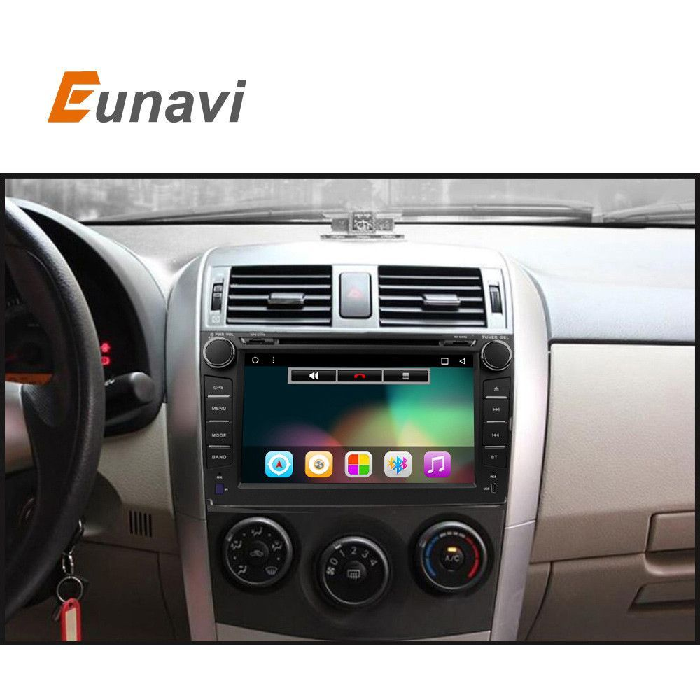 2 din android 6 0 car dvd player for toyota corolla 2007 2008 2009 2010 2011 quad