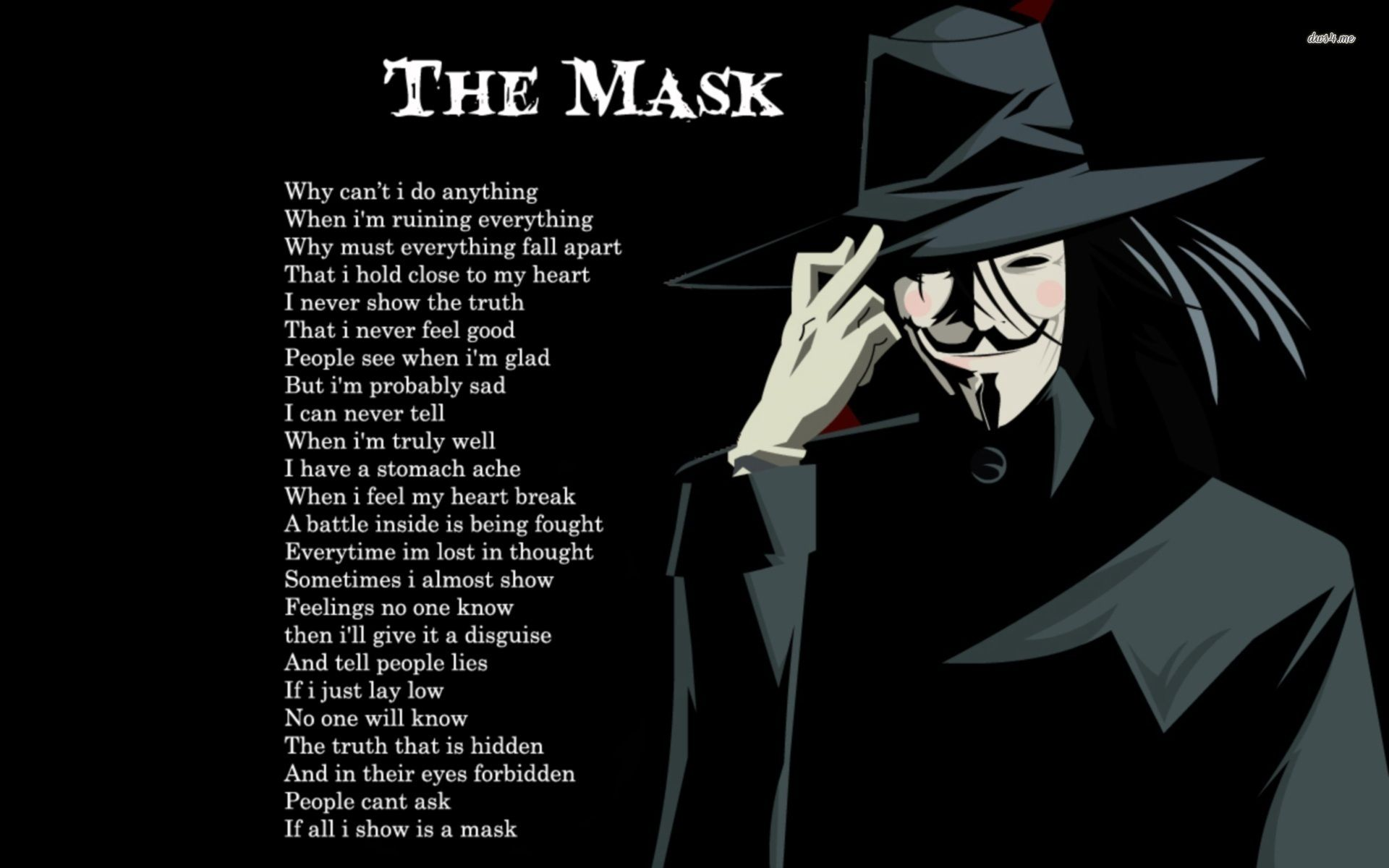 anonymous mask hd wallpaper for download digital art