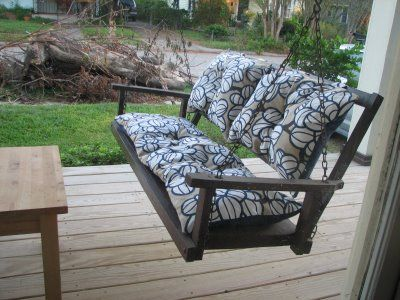 When DIY Projects Drive You Mad (Article)   Porch swing ...