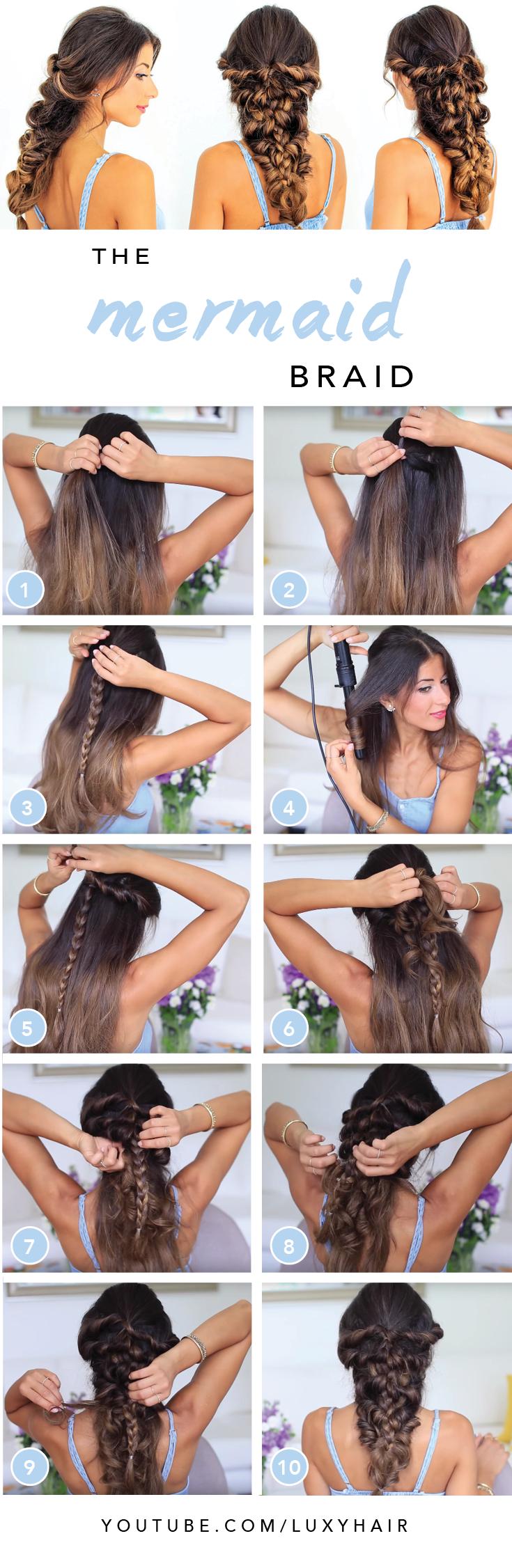Mermaid Braid Tutorial — Luxy Hair Blog - All about hair ...