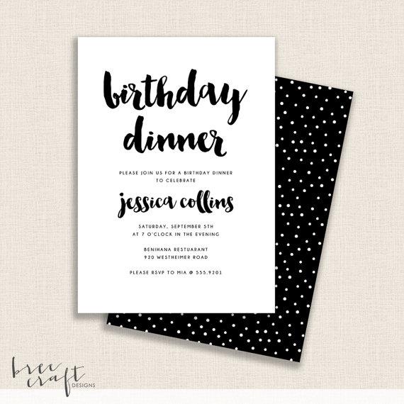 reverse b w diy printable birthday party invitation by