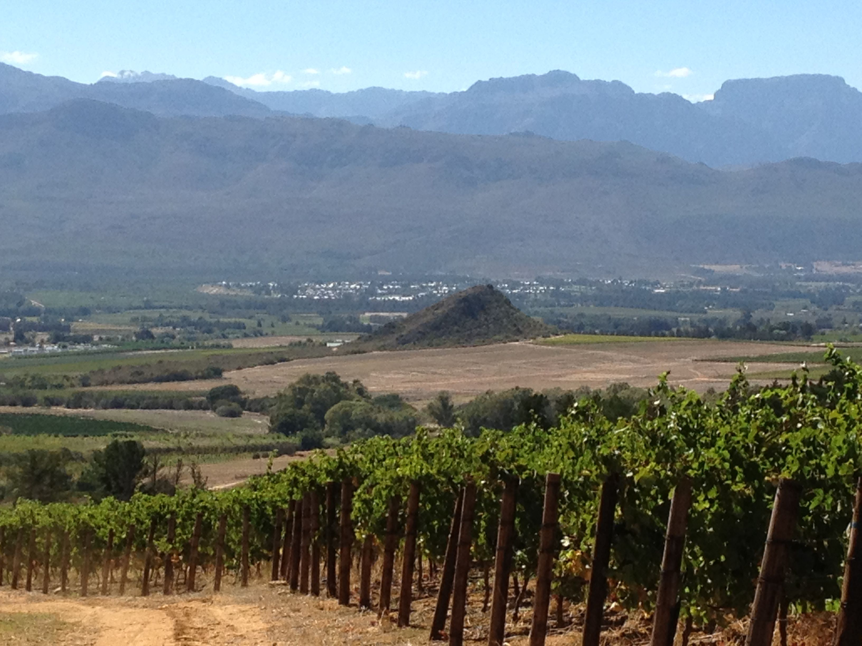 """Mountains surrounding Paarl in the Western Cape. Reminds me of the lyrics of """"in the arms of an angel, you will find comfort there""""!"""