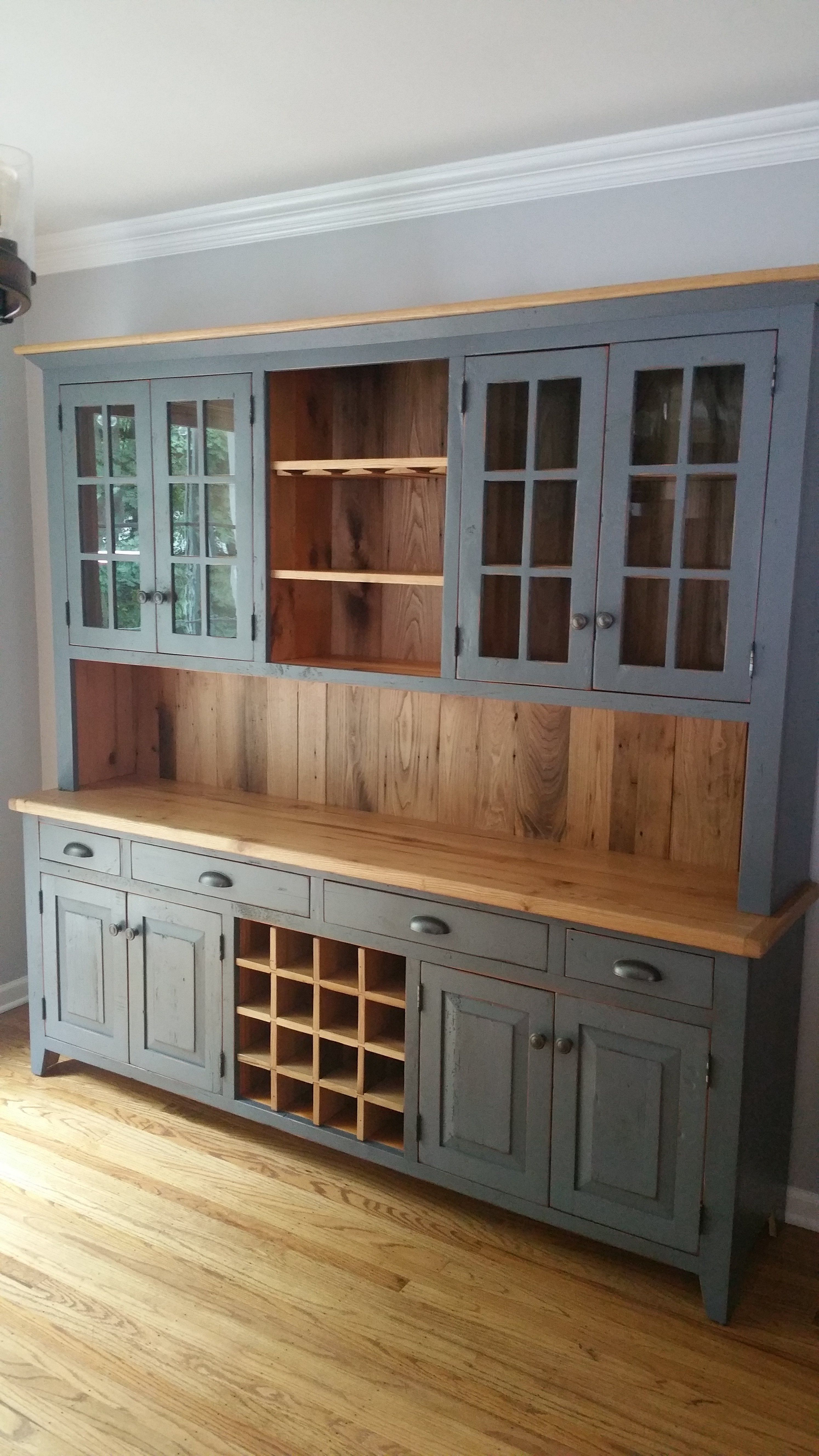 7ft Custom Hutch With Chestnut Upgrade Kitchen In 2019 Farmhouse