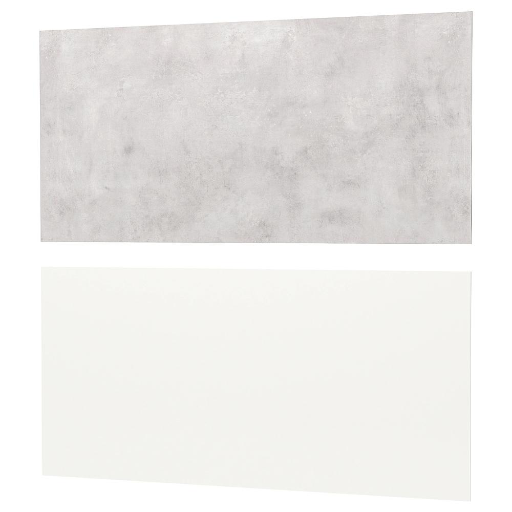 Lysekil Wall Panel Double Sided White White Light Gray Concrete Effect Ikea Wall Paneling Lysekil White Paneling