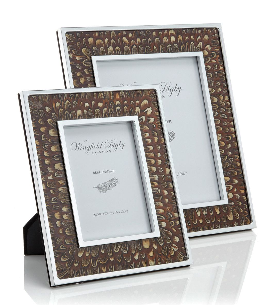 Cock pheasant feather glass photo frame glass photo frames cock pheasant feather glass photo frame wingfield digby jeuxipadfo Image collections