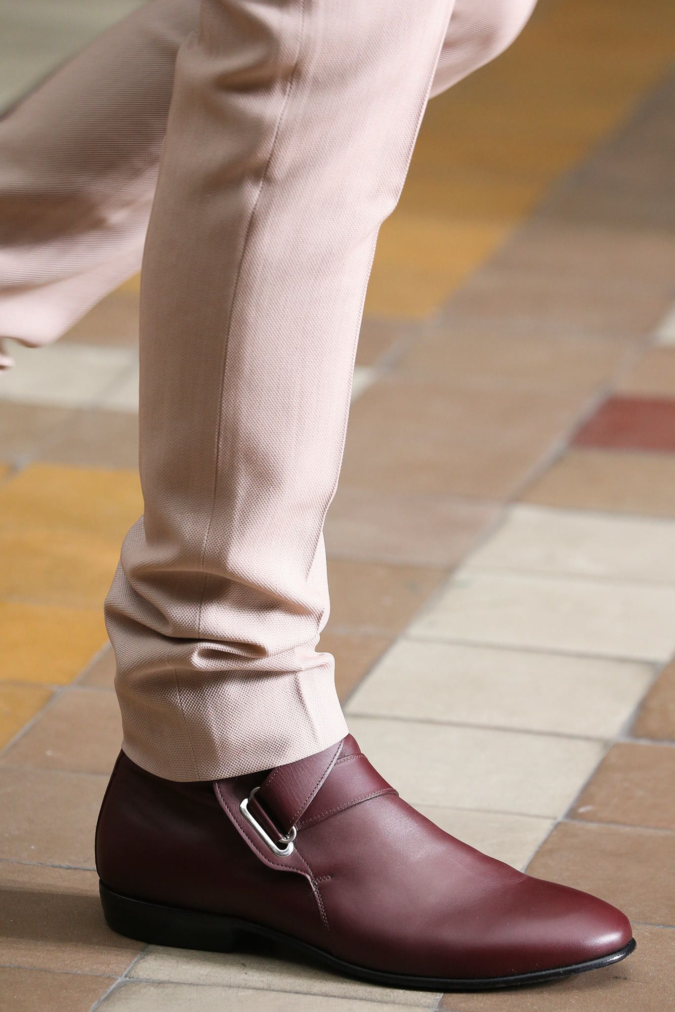 shoe style is called  monk  - I find them very versatile and smooth  looking. this cut of pant is a little young less conservative for a  business setting 8955b7400