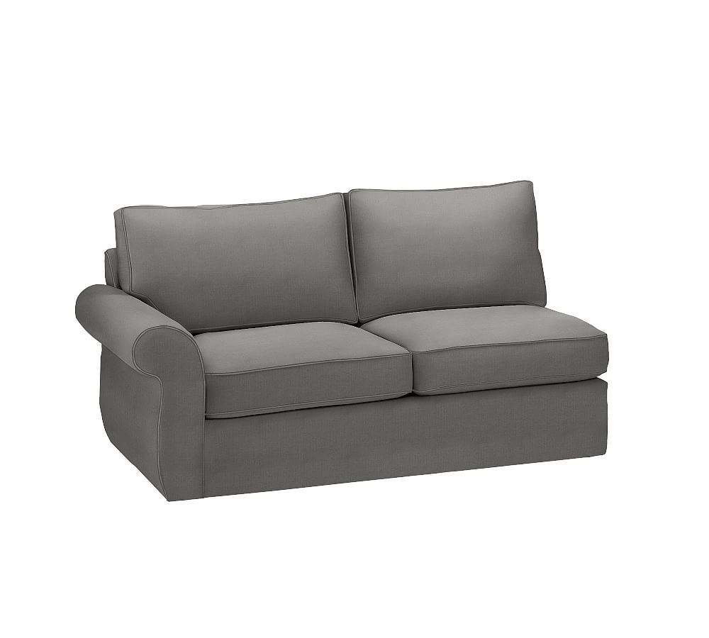 Pearce Slipcovered Left Return Sofa Down Blend Wrapped