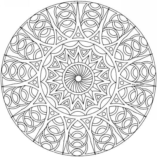 Mandala #mandala #mandalas #coloriage   Mandalas   Pinterest ...