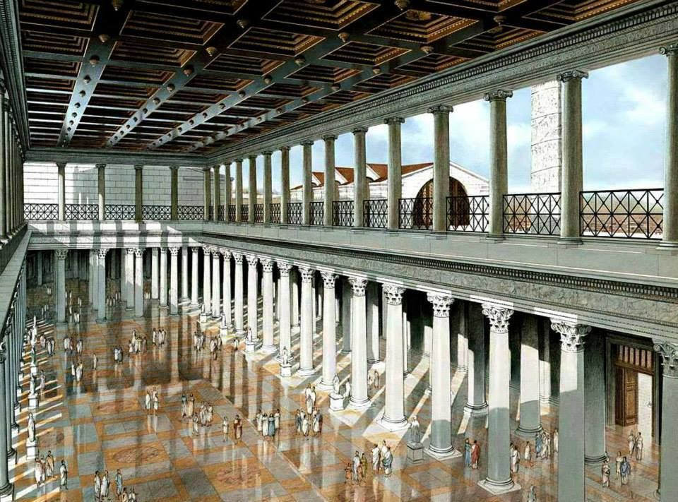 Friends of The Romans bring us this recreation of the Basilica Ulpia Rome... Impressive...