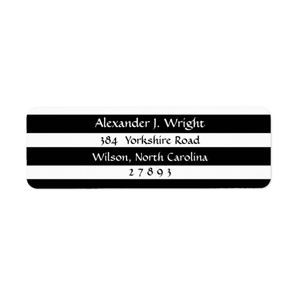 White And Black Solid Stripes Return Address Label Zazzle Com In 2021 Return Address Labels Address Labels Address Label Template Graduation return address labels templates