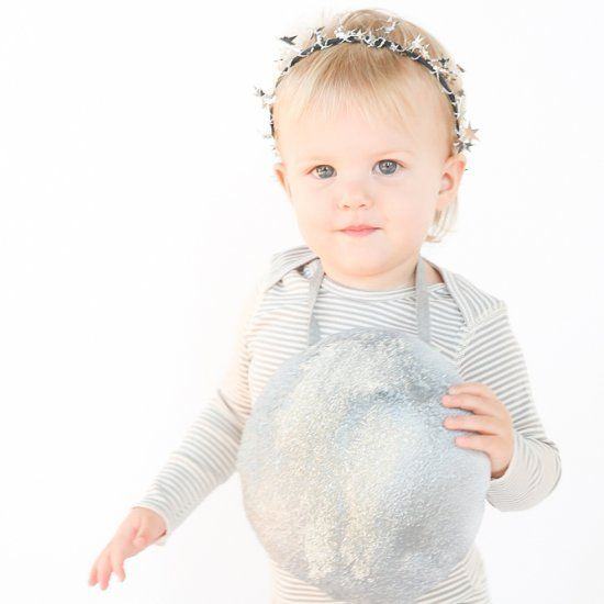 The moon and stars within your reach! Easy child or adult halloween costume idea and DIY. Make it in minutes!