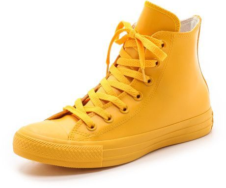 all yellow leather converse