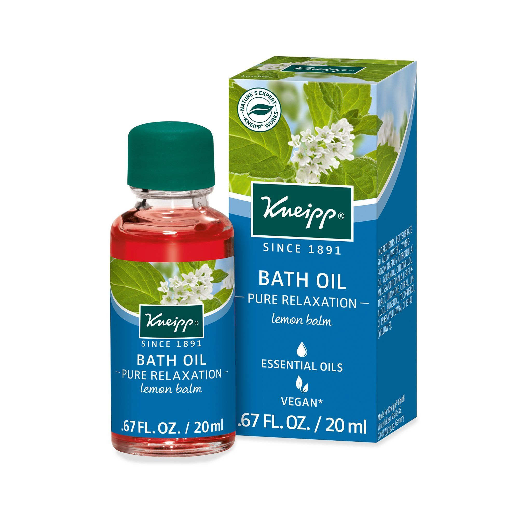 Kneipp Pure Relaxation Bath Oil Bath Oils Pure Products Oil Body Wash