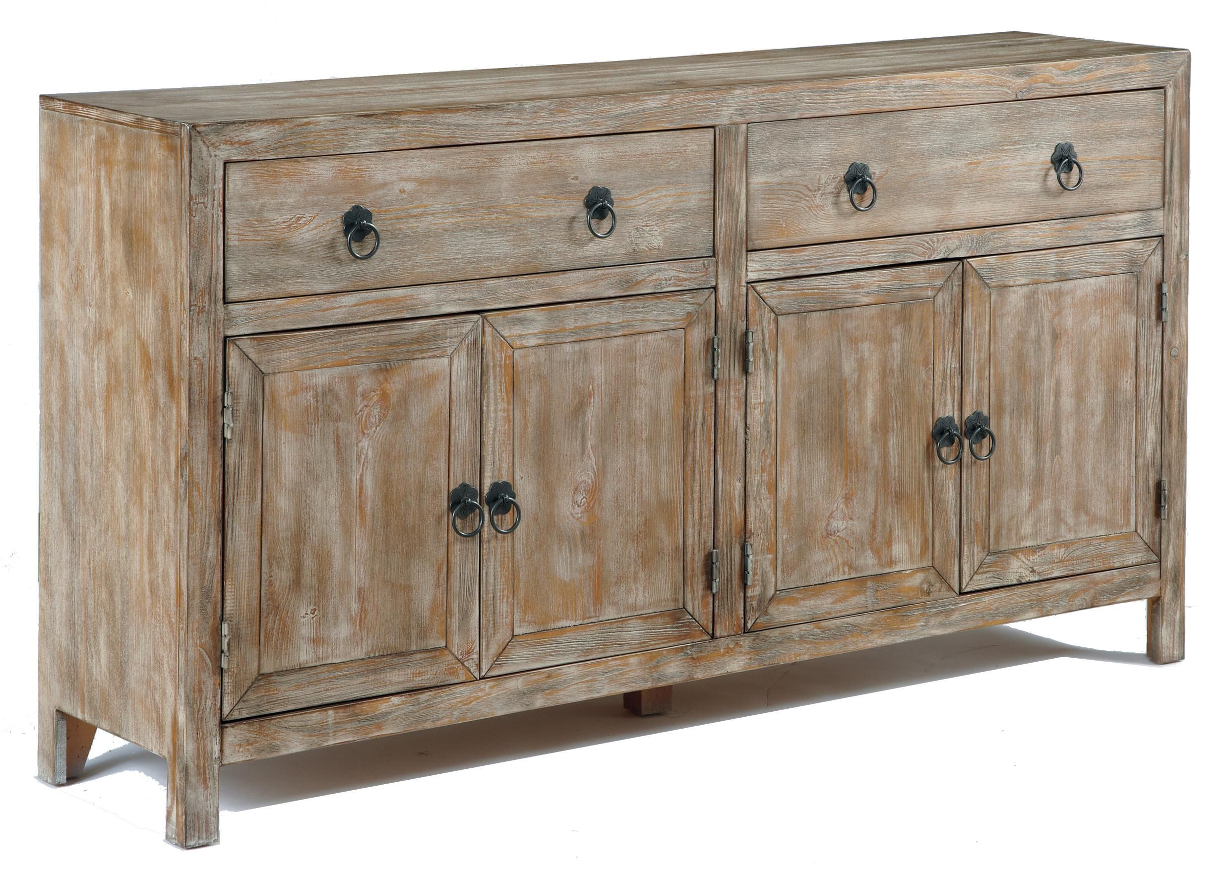Signature Design by Ashley Vennilux Rustic Accent Cabinet in ...