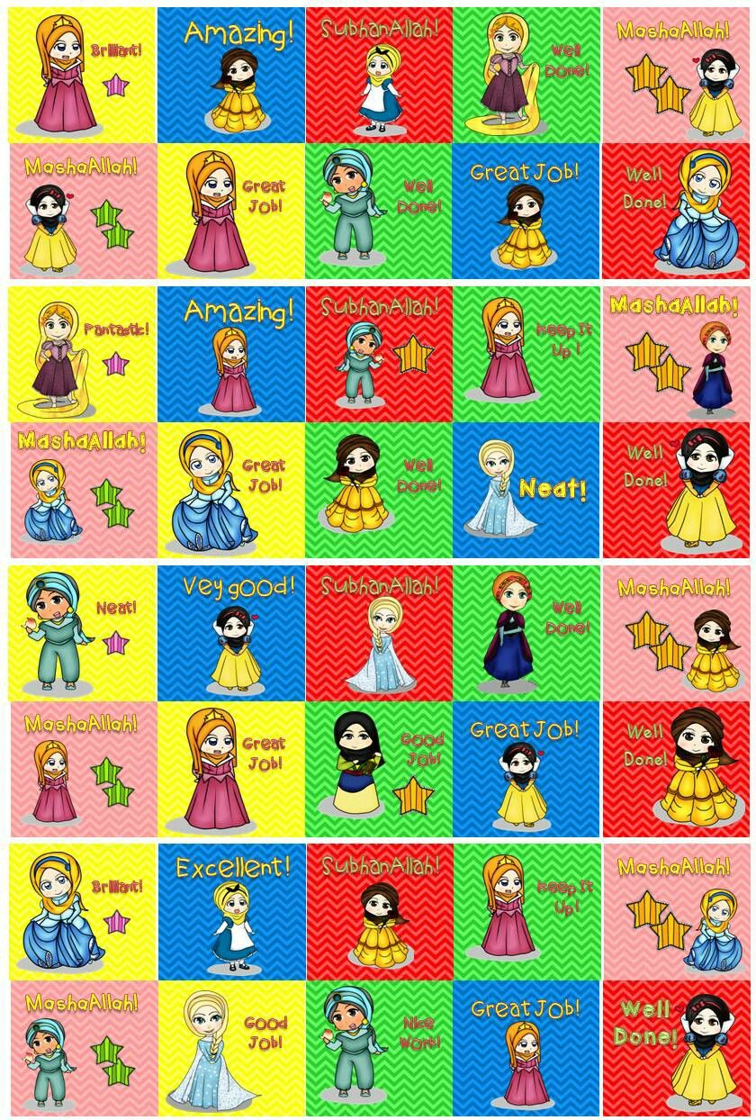Muslimah Disney Princess Reward Sticker in FREE Disney Princess ...