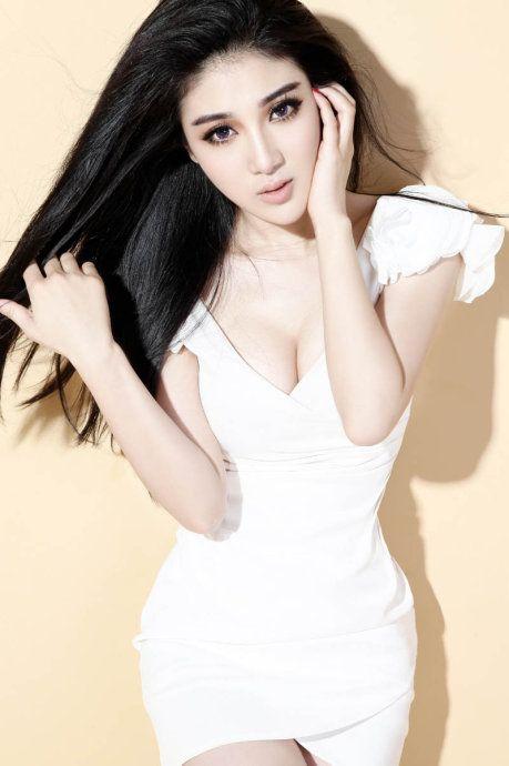 Beautiful female asian model