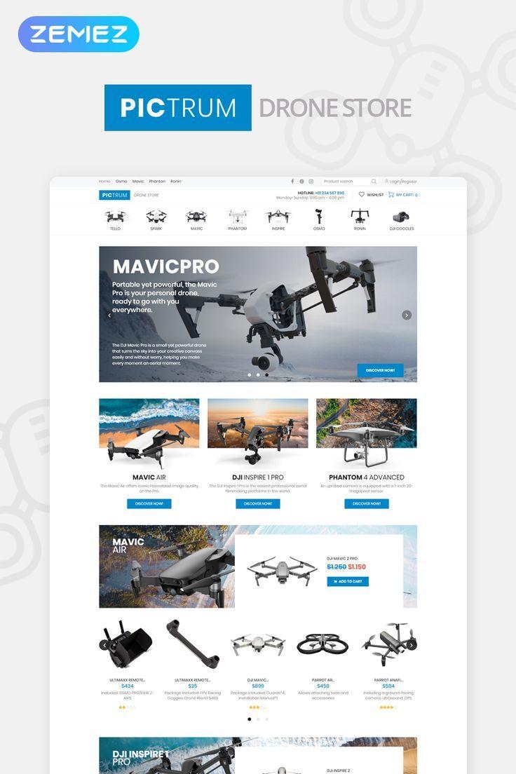 Pictrum Drone Store Minimal Elementor