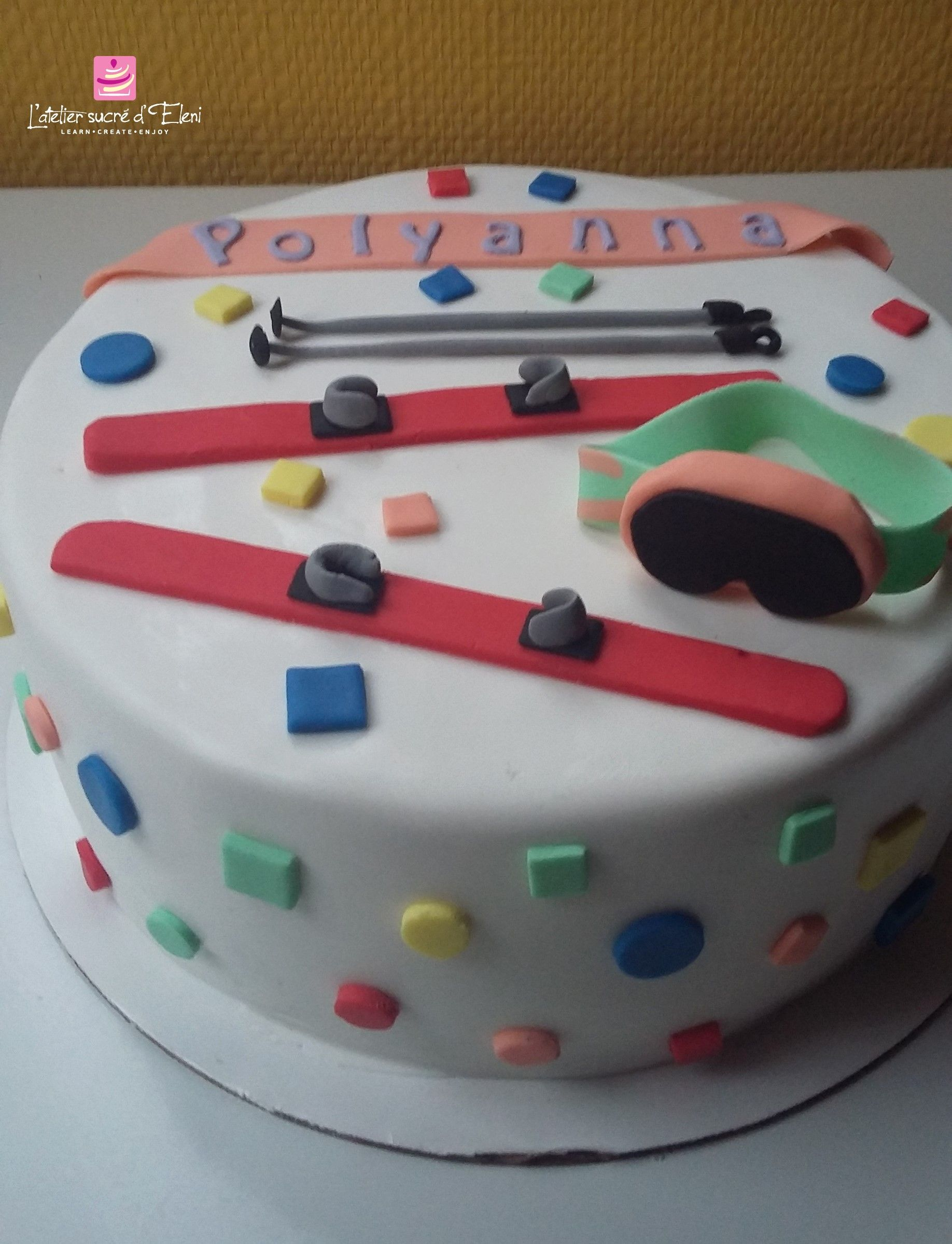 Ski birthday cake  Ski Party  Geburtstagskuchen Torten