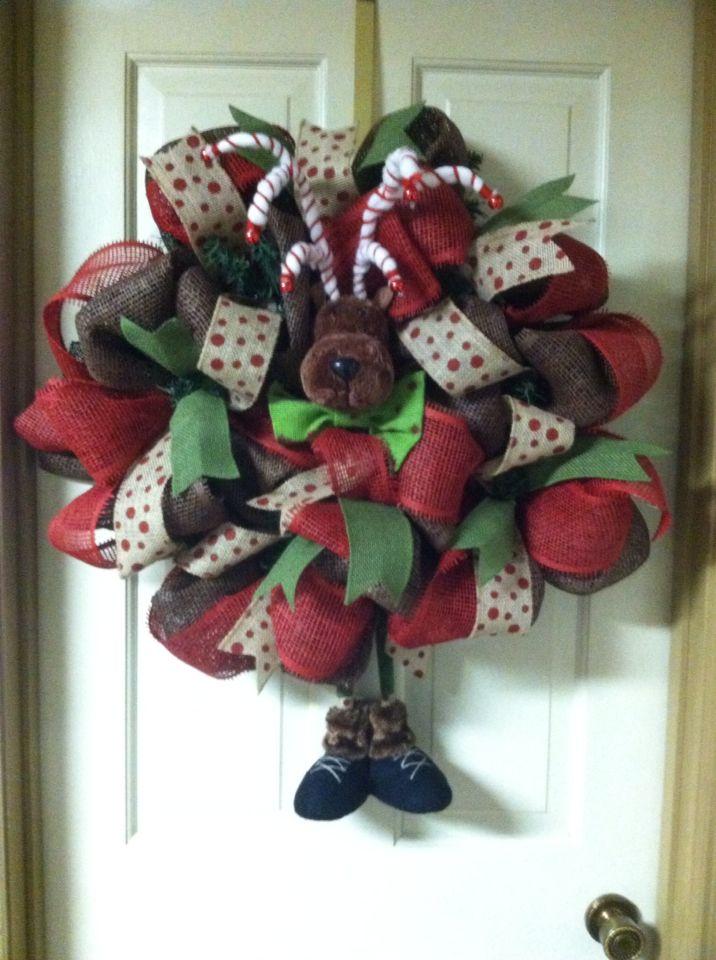 Reindeer wreath $60.00